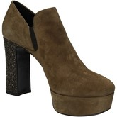Alberto Gozzi  ankle boots suede glitter AD334  women's Low Ankle Boots in Green