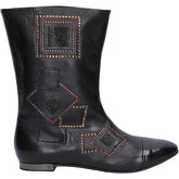 Fabi  ankle boots leather AK816  women's Mid Boots in Black