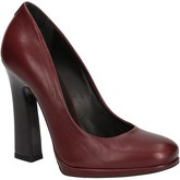 Fabi  courts burgundy leather AE757  women's Court Shoes in Red