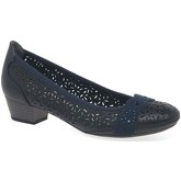 Marco Tozzi  Adoration Womens Punched Detail Court Shoes  women's Court Shoes in Blue