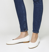 Office Fanatic Round toe Flats WHITE