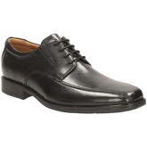 Clarks  Tilden Walk Mens Wide Lace-Up Derby Shoes  men's Casual Shoes in Black