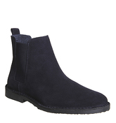 Ask the Missus Danish Chelsea Boot NAVY SUEDE BLACK SOLE