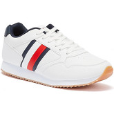 Tommy Hilfiger  Low Cut Lace Up Runner Youth White Trainers  men's Shoes (Trainers) in White