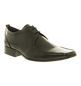 Office Chester Tramline Lace BLACK LEATHER