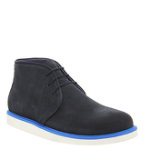 Ask the Missus Brash boots NAVY SUEDE BLUE POP