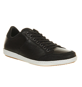 Office Amnesty Sneaker BLACK LEATHER WHITE SOLE