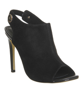 Office Napa Peep Toe Shoeboots BLACK SUEDE