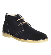 Ask the Missus Morgen Desert NAVY SUEDE NATURAL SHEARLING