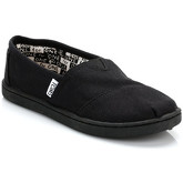 Toms  Youth Black Canvas Classic Espadrilles  men's Slip-ons (Shoes) in Black