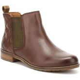 Barbour  Womens Wine Brown Abigail Chelsea Boots  women's Low Ankle Boots in Brown