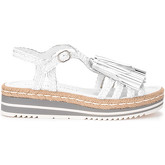 Pon´s Quintana  Sandalo in pelle bianca con nappine  women's Sandals in White