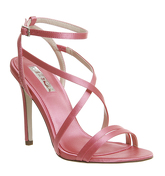 Office Hope Strappy Heeled Sandals PINK SATIN