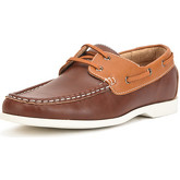 Reservoir Shoes  Boat shoes with round toe MATOK Brown / Navy blue Man Perm  men's Boat Shoes in Brown