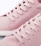 Pink Suedette Lace Up Trainers New Look