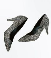 Black Iridescent Pointed Court Shoes New Look