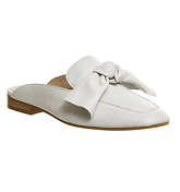 Office Dance Bow Mule OFF WHITE LEATHER