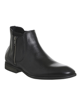 Ask the Missus Freeman Zip Boot BLACK LEATHER