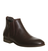 Ask the Missus Freeman Zip Boot BROWN LEATHER