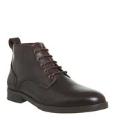 Office Cage Lace Chukka Boot BROWN LEATHER