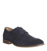 Office Folk Derby Shoes NAVY SUEDE
