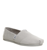 Toms Seasonal Classic Slip On DRIZZLE GREY EXCLUSIVE