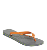 Havaianas Brasil Logo STEEL GREY NEON ORANGE