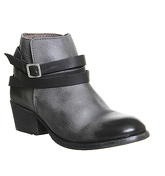 Hudson London Horrigan Strap Ankle Boots GREY LEATHER