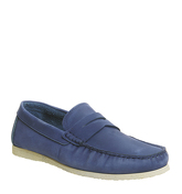 Ask the Missus Draft Penny Loafer COBALT NEW