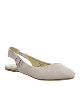Office Frappe Slingback Flats NUDE