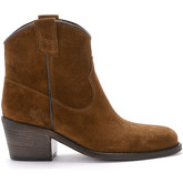 Via Roma 15  brown suede Texan ankle boots  women's Low Boots in Brown