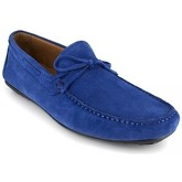 J.bradford  Loafer  Blue Leather JB-RACER  men's Loafers / Casual Shoes in Blue