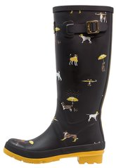 Tom Joule WELLY PRINT Wellies black