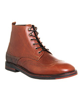 Hudson London Harland Brogue boots TAN LEATHER