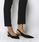 Office Fragile Point Slingback BLACK