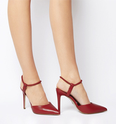 Office Hour Pointed Court RED LEATHER