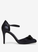 Womens Navy 'Groove' Court Shoes- Blue, Blue