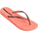 Ipanema  Mesh II Flip Flops in Coral   Rose Gold 81927  women's Flip flops / Sandals (Shoes) in Orange