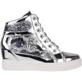 Krisp  Glitter   Sequins Metallic Wedge Trainers {Silver }  women's Shoes (High-top Trainers) in Silver