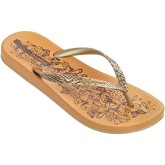 Ipanema  Nature Flip Flops in Orange   Gold Flowers Print 81926  women's Flip flops / Sandals (Shoes) in Orange