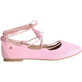 Krisp  Tassel Ankle Wrap Ballet Flats {Pink}  women's Shoes (Pumps / Ballerinas) in Pink