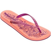 Ipanema  Nature Flip Flops in Coral   Purple Flowers Print 81926  women's Flip flops / Sandals (Shoes) in Orange