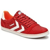 Hummel  SLIMMER STADIL WASHED LOW  women's Shoes (Trainers) in Red