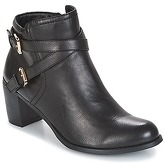 Moony Mood  HANIA  women's Low Ankle Boots in Black