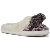 London Rag  Women's Gray and Pink Fur Clog Slippers  women's Slippers in Pink