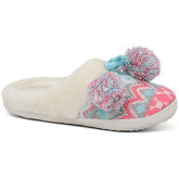 London Rag  Women's Pink and Blue Fur Clog Slippers  women's Slippers in Blue