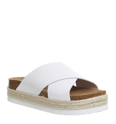 Office Mexico Cross Strap Footbed WHITE