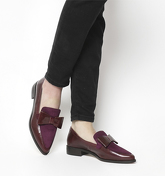 Office Frontline- Pointed Bow Loafer BURGUNDY LEATHER BURGUNDY SUEDE