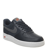 Nike Air Force 1 07 OBSIDIAN COOL GREY TEAM ORANGE