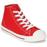 Yurban  WAXI  men's Shoes (High-top Trainers) in Red